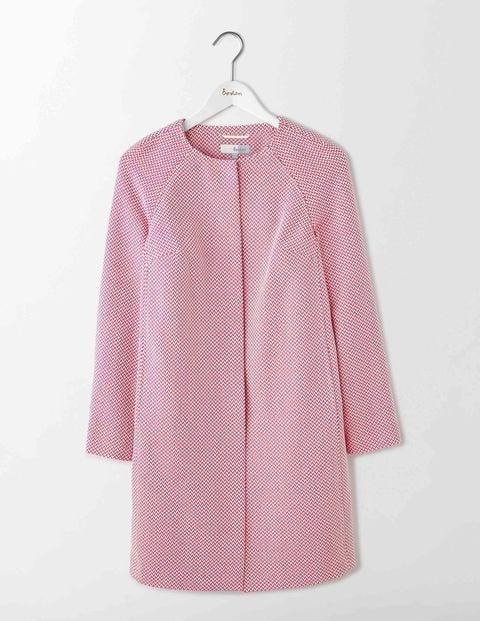 Retro Vintage Style Coats, Jackets, Fur Stoles Sienna Textured Coat Mid Pink Women Boden Mid Pink £190.00 AT vintagedancer.com
