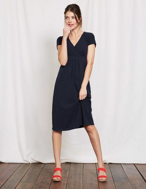 Casual Jersey Dress - Navy