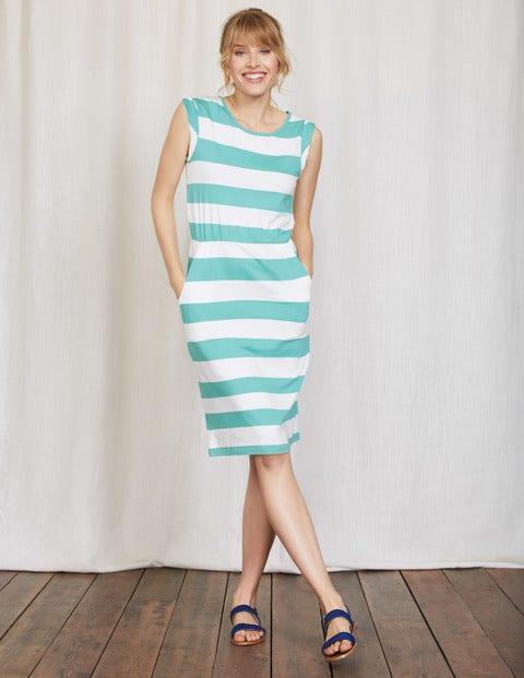 Blackberry Dress - Jade/Ivory Stripe