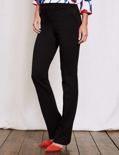 Hampshire Bootcut Trousers Black Women Boden, Black