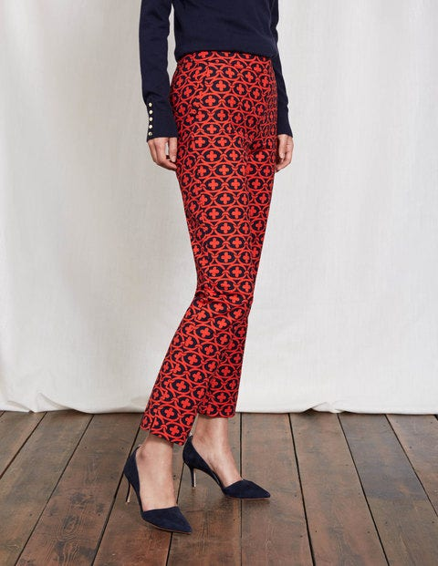 Richmond 7/8 Pants Snapdragon/Navy Linked Floral Women Boden