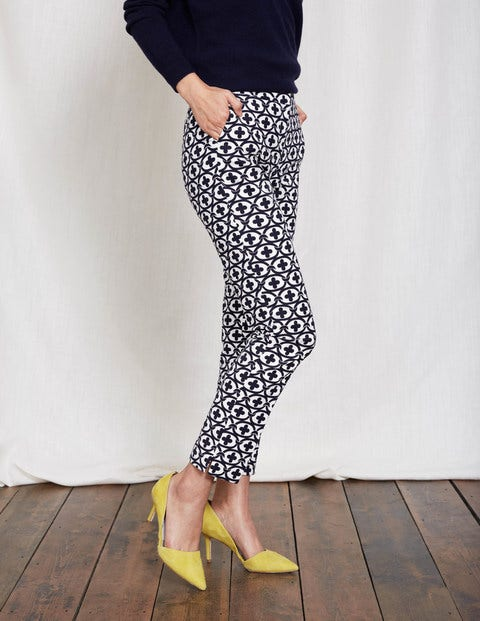 Richmond 7/8 Pants Ivory/Navy Linked Floral Women Boden