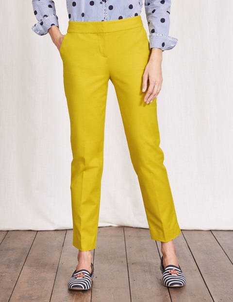 Women's 1960s Style Pants Richmond 78 Trousers Mimosa Yellow Women Boden Mimosa Yellow £19.50 AT vintagedancer.com