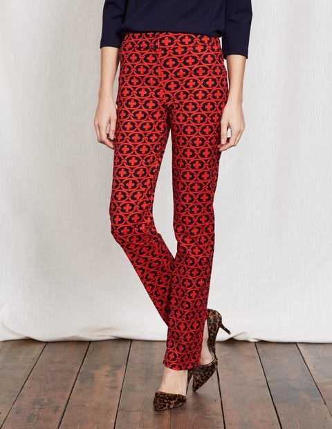 Richmond Pants Snapdragon/Navy Linked Floral Women Boden