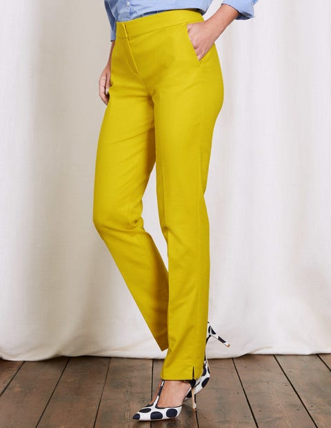 Women's 1960s Style Pants Richmond Trousers Mimosa Yellow Women Boden Mimosa Yellow £30.00 AT vintagedancer.com