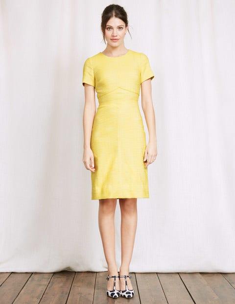 Sylvie Seamed Dress Pineapple/Ivory Women Boden