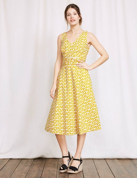 Lois Dress Mimosa Large Clover Women Boden