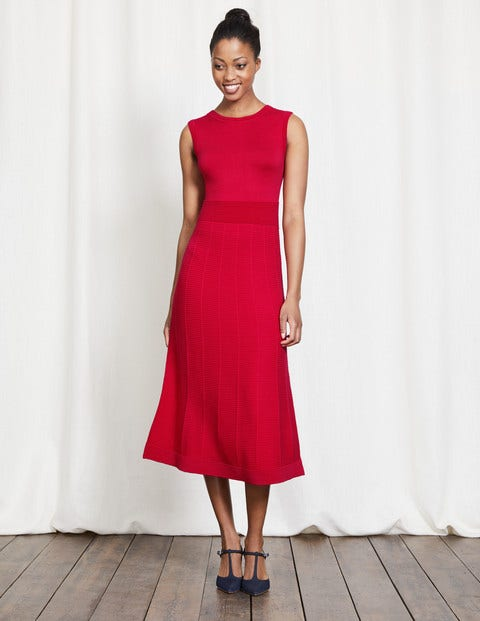 1930s Style Fashion Dresses Eleana Knitted Dress Camellia Women Boden Camellia £60.00 AT vintagedancer.com
