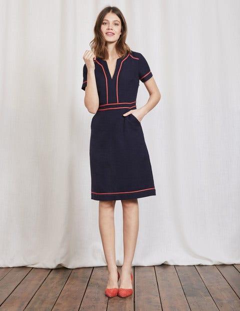 1960s Style Dresses- Retro Inspired Fashion Tilda Dress Navy Women Boden Navy £110.00 AT vintagedancer.com