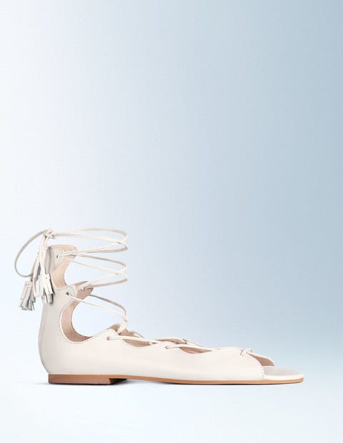 Freida Lace Up Sandal Ivory Women Boden