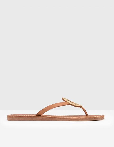 Beaded Flip Flop - Gold