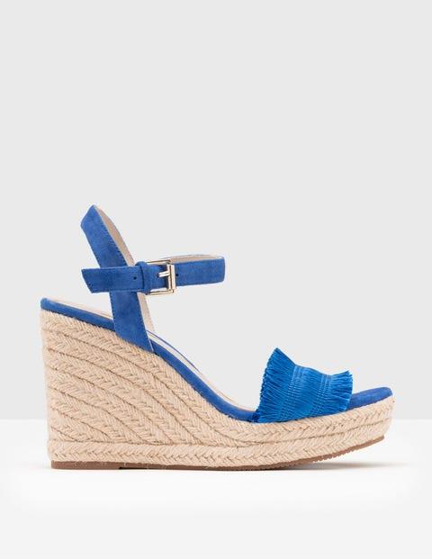 Laticia Espadrille Wedge Blue Women Boden, Blue