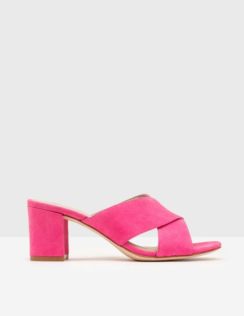 Pamela Suede Mules Mid Pink Women Boden, Mid Pink.