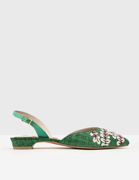 Vintage Style Sandals – 1930s, 1940s, 1950s, 1960s Caterina Embroidered Slingback Greenhouse Women Boden Greenhouse £56.00 AT vintagedancer.com