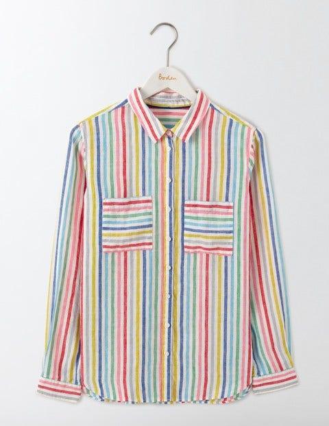 The Linen Shirt Candy Stripe Women Boden