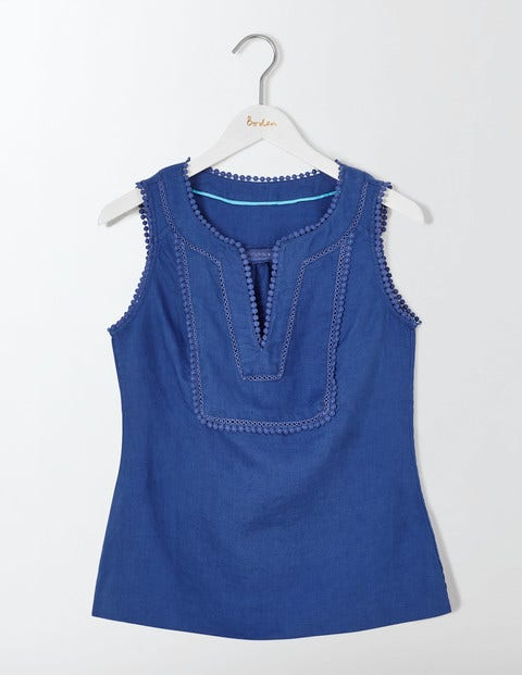 Abigail Top Blue Women Boden, Blue