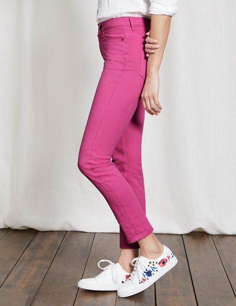 Cambridge Ankle Skimmer Jeans Mid Pink Women Boden
