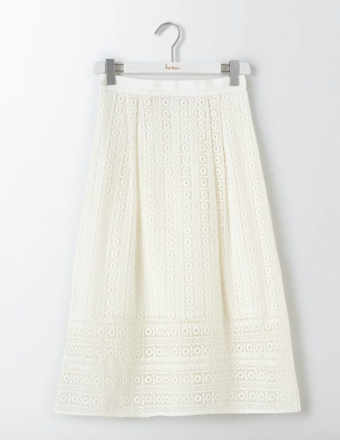 Althea Lace Skirt Ivory Women Boden