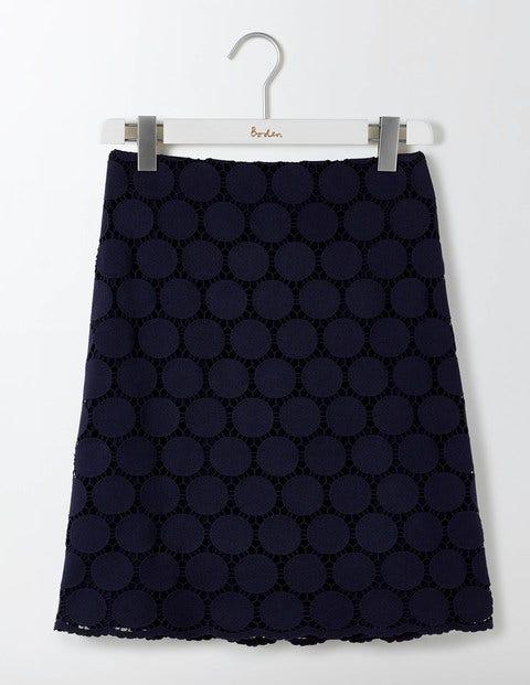 Arabella Lace Skirt Navy Women Boden
