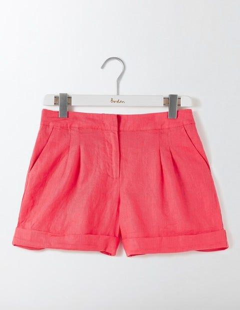 Lottie Linen Shorts - Coral Reef