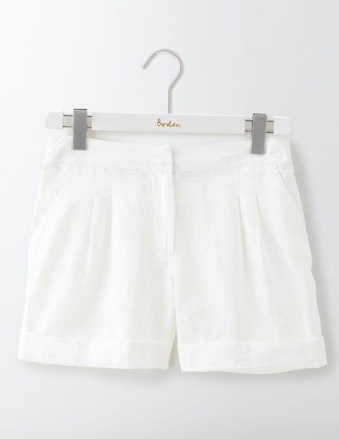 Lottie Linen Shorts - White