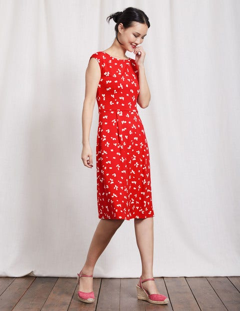 Marina Jersey Dress Snapdragon Large Confetti Women Boden