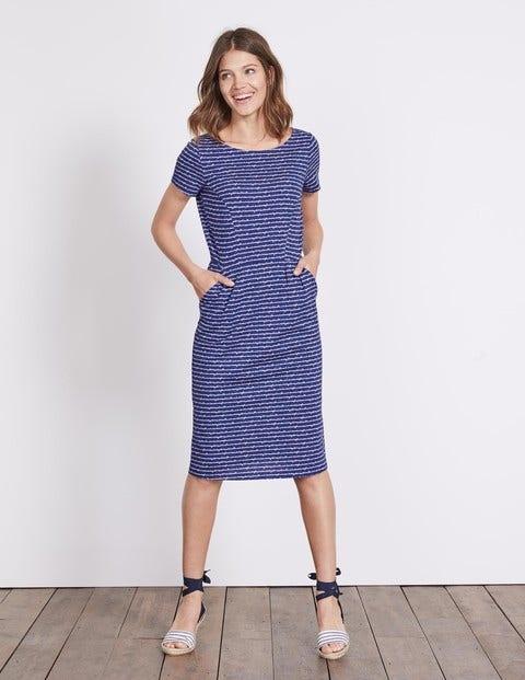 Phoebe Jersey Dress - Greek Blue Postcard