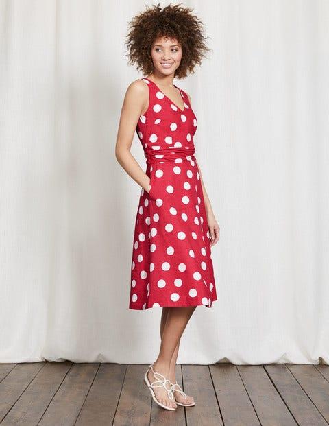 Lois Dress Camellia Scattered Spot Women Boden