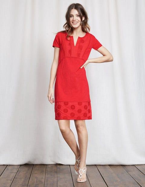 Clio broderie jersey dress strawberry sundae women boden for Boden london mode
