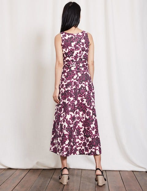 buying new 2019 authentic premium selection Riviera Dress - Pewter Island Vine | Boden UK