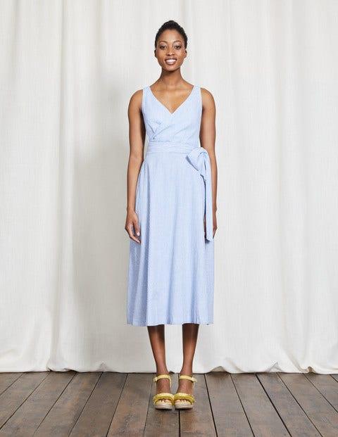 50 Vintage Inspired Clothing Stores Riviera Dress Blue Women Boden Blue £98.00 AT vintagedancer.com