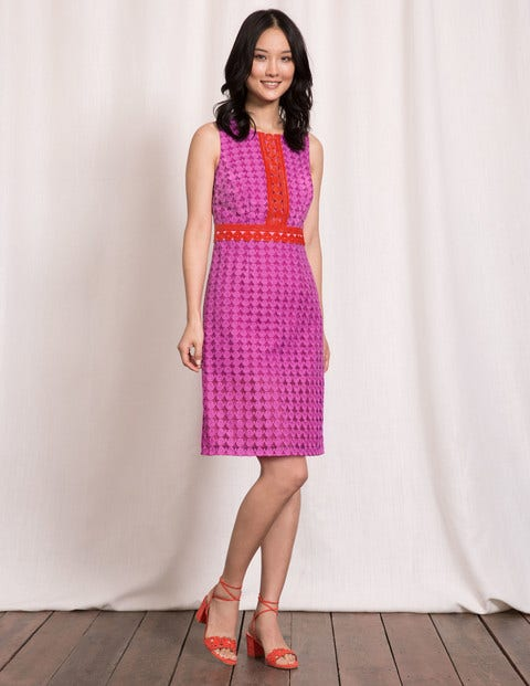 Lydia Lace Dress - Cosmos Pink