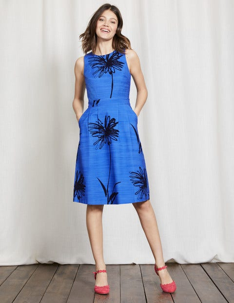 Evelyn Dress Meadow Spring Stencil Floral Women Boden