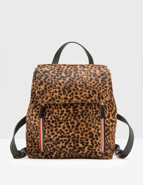 Whitehaven Backpack Tan Leopard Women Boden