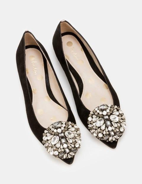 Retro Vintage Flats and Low Heel Shoes Rosalie Flats Black Women Boden Black £120.00 AT vintagedancer.com