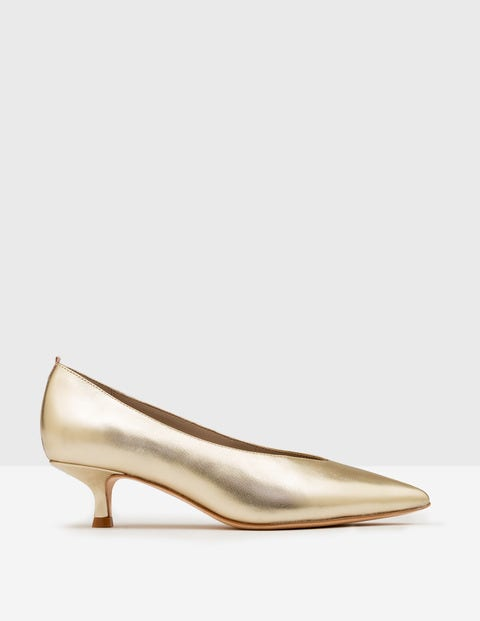 High Cut Heels Pale Gold Metallic Women Boden