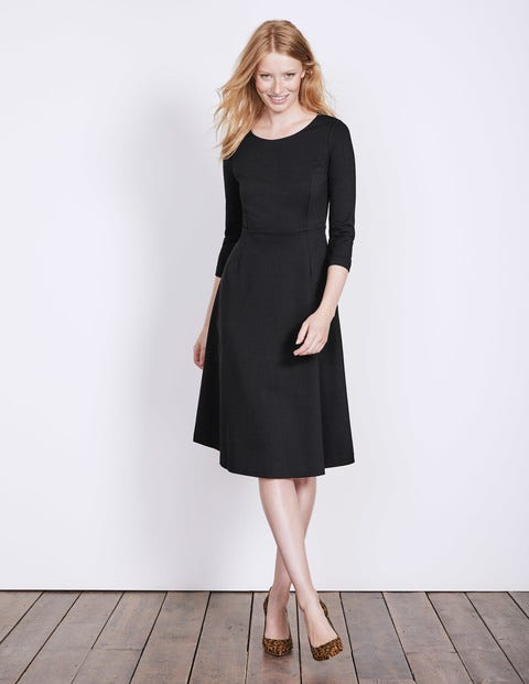Irene Ponte Dress - Black