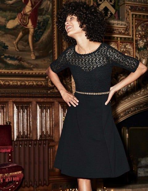 Lisa Ponte Dress - Black