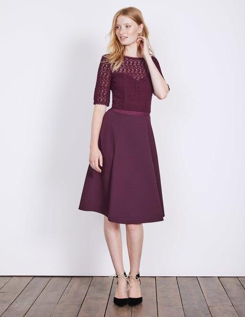 Lisa Ponte Dress Black Forest Women Boden