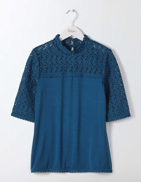 Seraphina Lace Top Blue Women