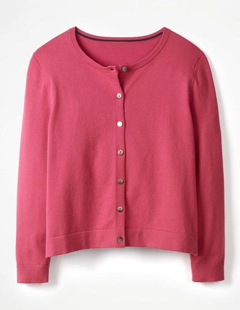 Favourite Crew Neck Cropped Cardigan Rose Blossom Women Boden