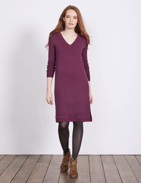 Riley Knitted Dress Blackforest Women Boden