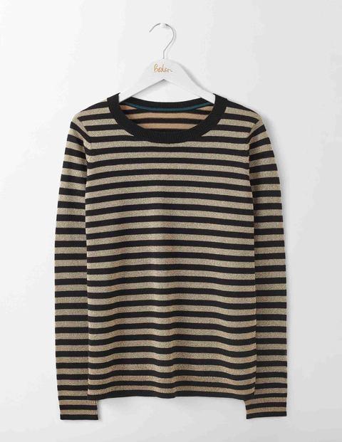 1960s Fashion: What Did Women Wear? Renata Jumper BlackGold Stripe Women Boden Gold £70.00 AT vintagedancer.com