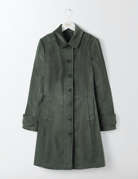 Keswick Velvet Coat Graphite Women Boden