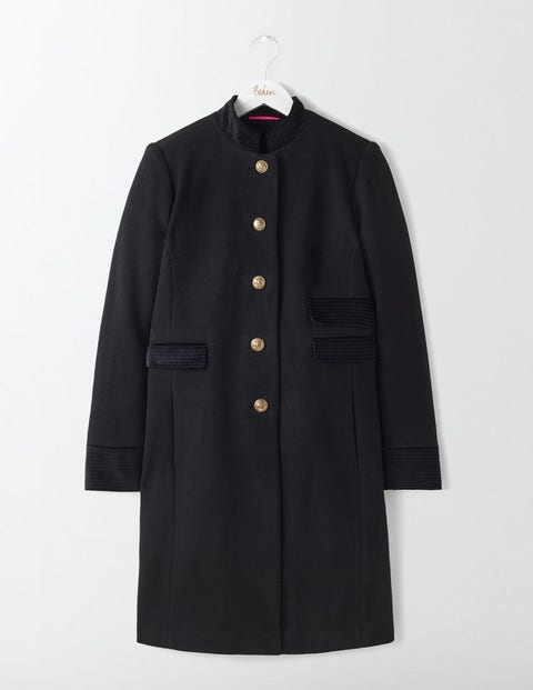 Marie Military Coat Black Women Boden