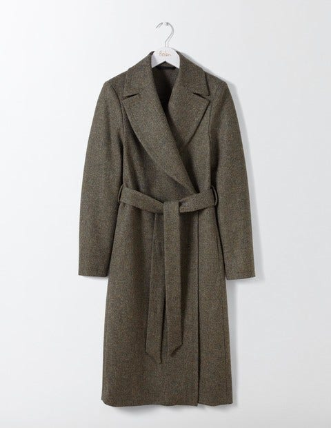 Vintage Style Coats, Jackets, Faux Fur, Tweed Suki British Tweed Coat Fell Green Women Boden Green £125.00 AT vintagedancer.com