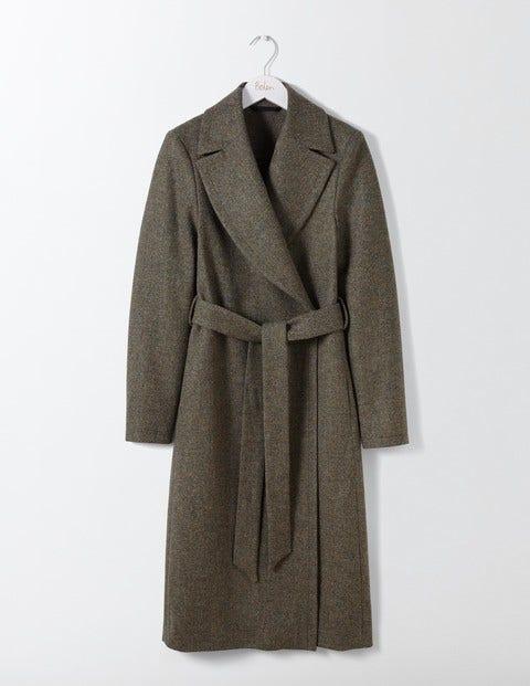Suki British Tweed Coat Green Women Boden, Green