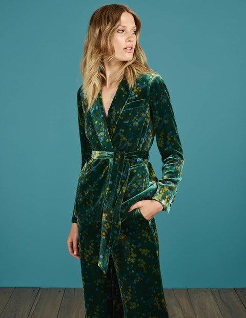 1960s Fashion: What Did Women Wear? Roberta Velvet Jacket Deep Forest Acacia Women Boden Green £180.00 AT vintagedancer.com
