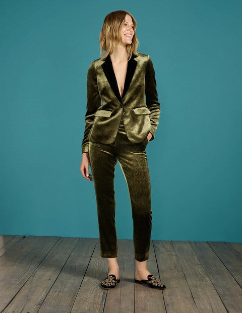 1960 – 1970s Pants, Flares, Bell Bottoms for Women Vera Velvet Trousers Gold Women Boden Gold £160.00 AT vintagedancer.com