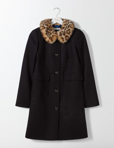 1950s Jackets and Coats | Swing, Pin Up, Rockabilly Claudette Coat Black Women Boden Black £198.00 AT vintagedancer.com